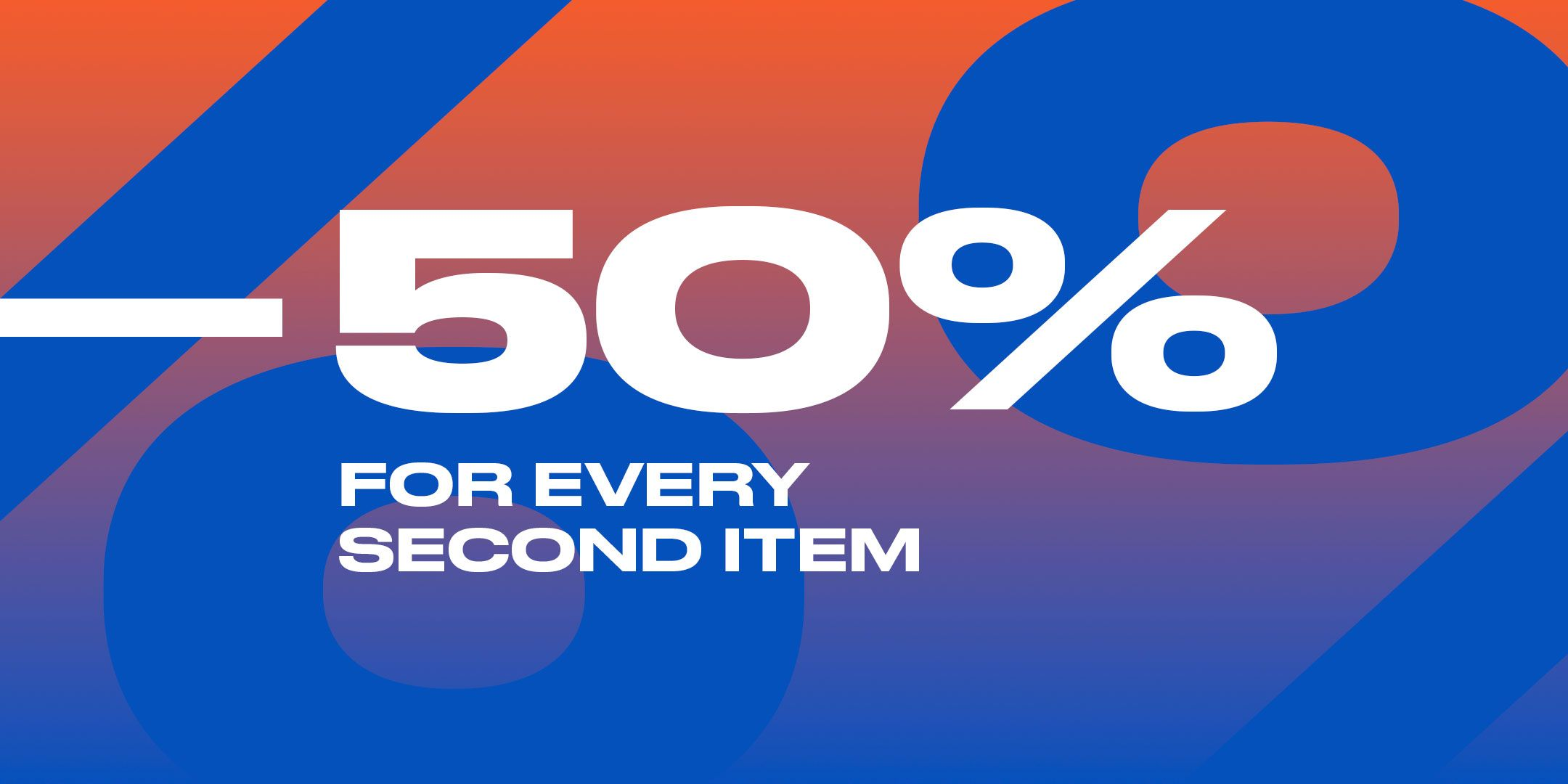 -50% for the second item