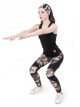 Women's leggings SPORT LINE CAMO
