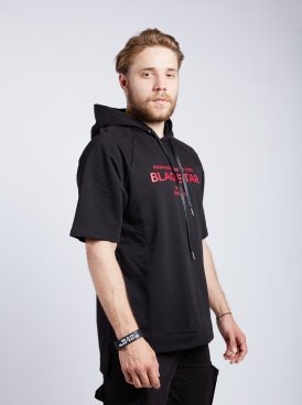 Men's t-shirt BLACK & RED HOOD