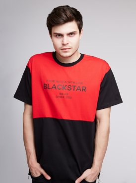 Men's t-shirt BLACK & RED