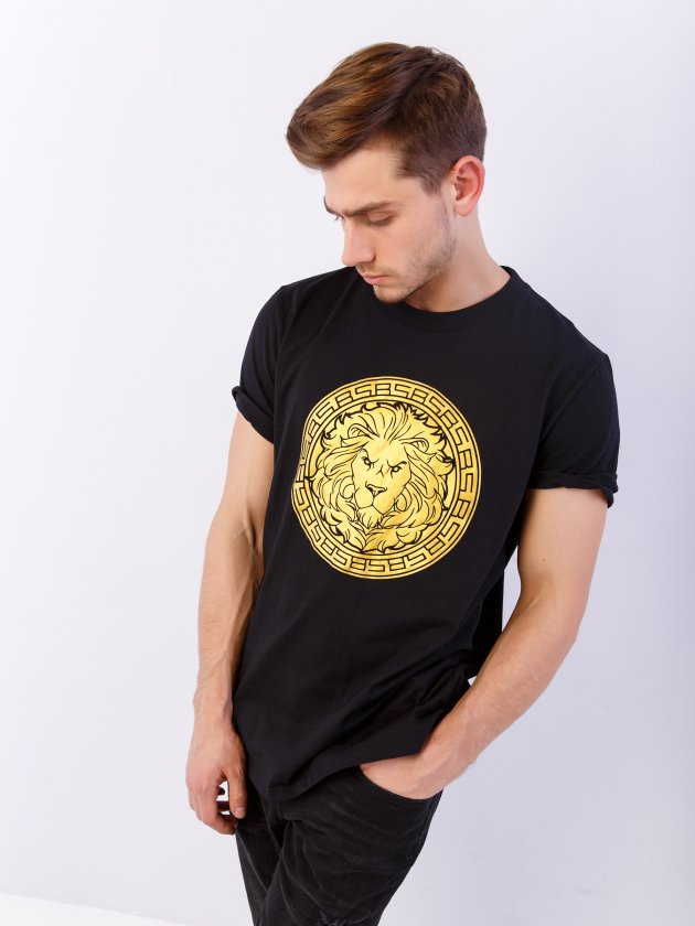 Купить Футболка BS LION LOGO, Black Star Wear, Черный