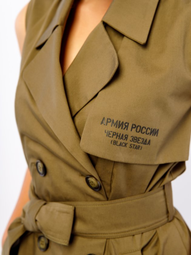Фото 6 - Платье BS&ARMY от Black Star Wear цвета хаки