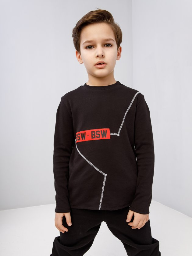 Лонгслив KIDS ID STAR Black Star Wear