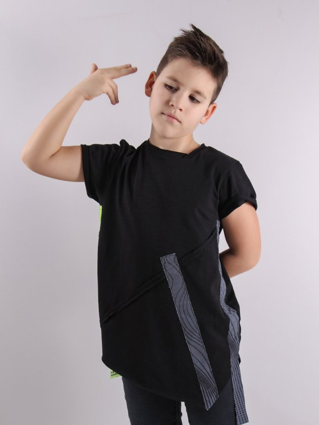 Футболка BB ASYMMETRIC LINES Черный 9-10 лет