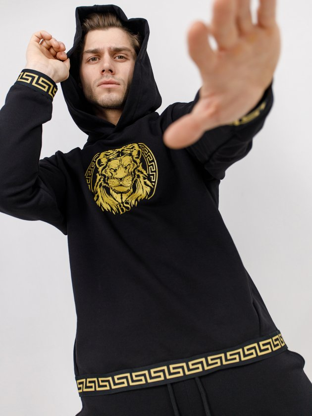 Худи GOLD LION Black Star Wear